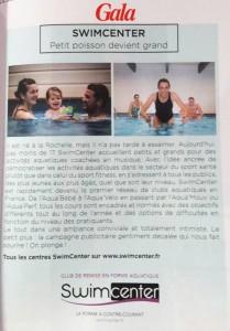 Article Swimcenter dans Gala